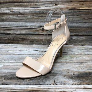 Jessica Simpson Jp-Maia Nude Open-toe Heels 10M